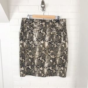 INC International Concepts Snakeskin Pencil Skirt